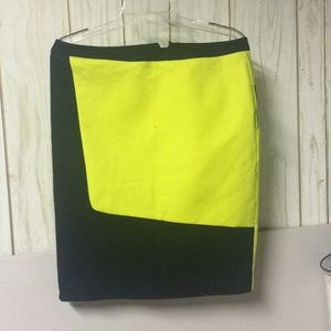 Worthington Pencil Skirt Yellow/green and black